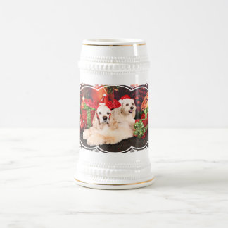 Christmas - Cocker - Toby, Havanese - Little T Beer Stein