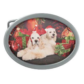 Christmas - Cocker - Toby, Havanese - Little T Belt Buckle