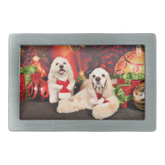 Christmas - Cocker - Toby, Havanese - Little T Belt Buckle