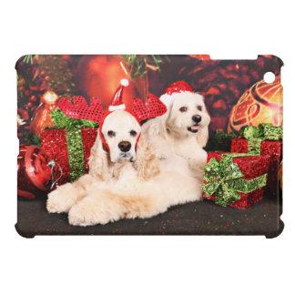 Christmas - Cocker - Toby, Havanese - Little T Case For The iPad Mini