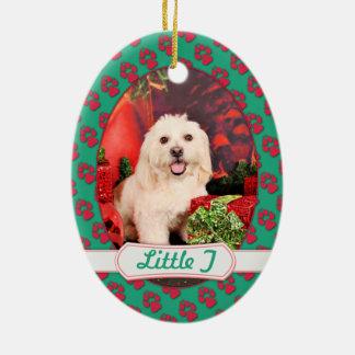 Christmas - Cocker - Toby, Havanese - Little T Ceramic Ornament