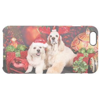 Christmas - Cocker - Toby, Havanese - Little T Clear iPhone 6 Plus Case