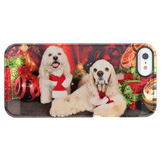 Christmas - Cocker - Toby, Havanese - Little T Clear iPhone SE/5/5s Case