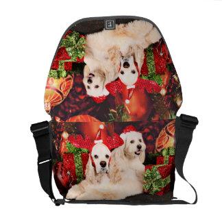 Christmas - Cocker - Toby, Havanese - Little T Commuter Bag