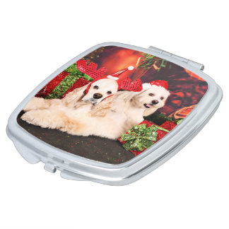 Christmas - Cocker - Toby, Havanese - Little T Compact Mirrors