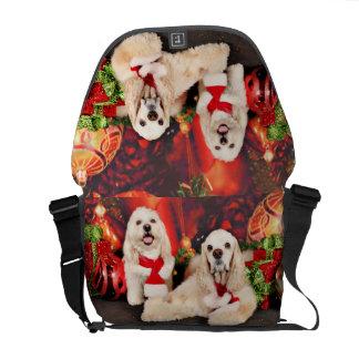 Christmas - Cocker - Toby, Havanese - Little T Courier Bags