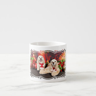 Christmas - Cocker - Toby, Havanese - Little T Espresso Cup