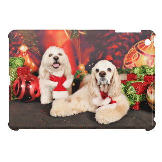 Christmas - Cocker - Toby, Havanese - Little T iPad Mini Cases