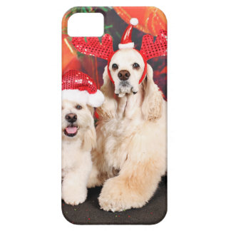 Christmas - Cocker - Toby, Havanese - Little T iPhone 5 Cases