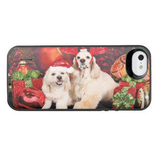 Christmas - Cocker - Toby, Havanese - Little T iPhone SE/5/5s Battery Case
