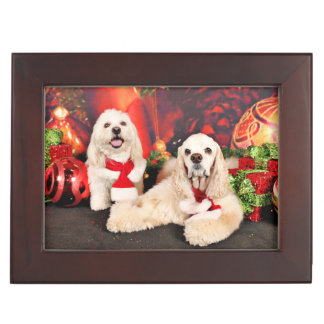 Christmas - Cocker - Toby, Havanese - Little T Keepsake Box