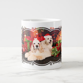 Christmas - Cocker - Toby, Havanese - Little T Large Coffee Mug