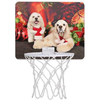 Christmas - Cocker - Toby, Havanese - Little T Mini Basketball Hoop