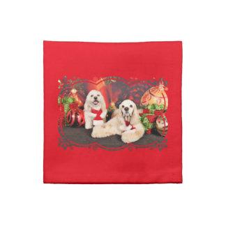 Christmas - Cocker - Toby, Havanese - Little T Napkin