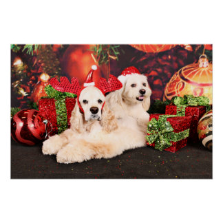 Christmas - Cocker - Toby, Havanese - Little T Poster