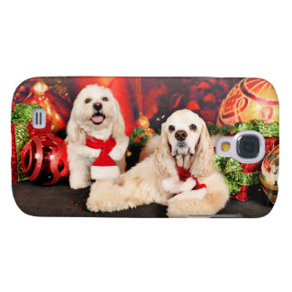 Christmas - Cocker - Toby, Havanese - Little T Samsung Galaxy S4 Cases