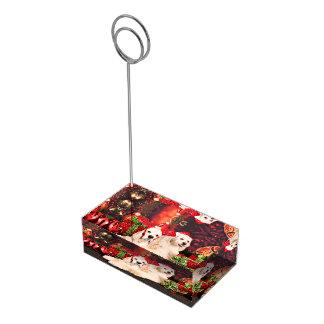 Christmas - Cocker - Toby, Havanese - Little T Table Card Holder