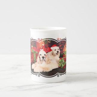 Christmas - Cocker - Toby, Havanese - Little T Tea Cup