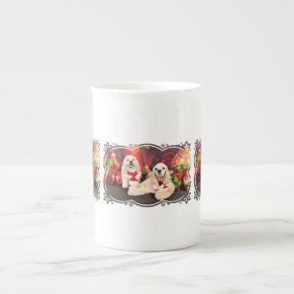 Christmas - Cocker - Toby, Havanese - Little T Tea Cup