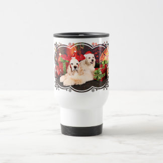 Christmas - Cocker - Toby, Havanese - Little T Travel Mug