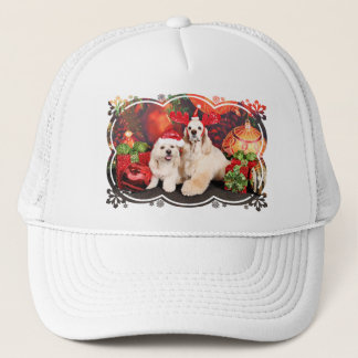 Christmas - Cocker - Toby, Havanese - Little T Trucker Hat