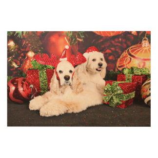 Christmas - Cocker - Toby, Havanese - Little T Wood Wall Decor