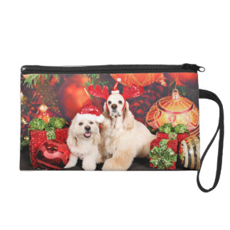 Christmas - Cocker - Toby, Havanese - Little T Wristlet