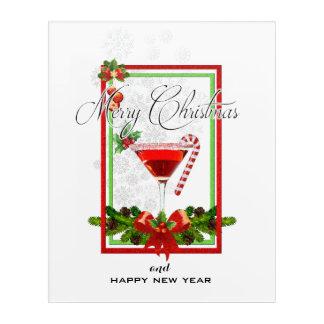 Christmas Cocktail Watercolor Art