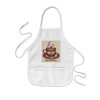 Christmas cocoa Elf add text kids apron