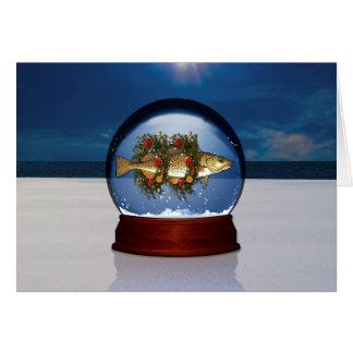 Christmas Cod Snow Globe Card