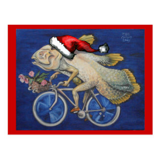 Christmas Coelacanth Postcard
