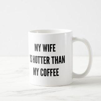 Christmas coffee my wife is hotter than coffee mug