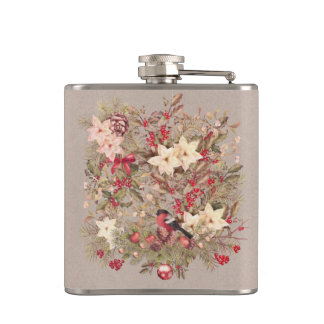 Christmas Collage 6 oz Vinyl Wrapped Flask