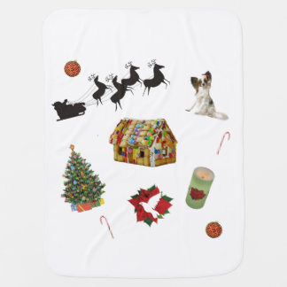 Christmas Collage Baby Blanket