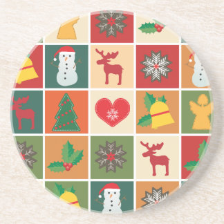 Christmas Collage Coaster