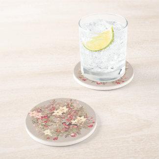 Christmas Collage Sandstone Drink Coaster