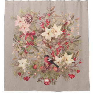Christmas Collage Shower Curtain