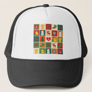 Christmas Collage Trucker Hat
