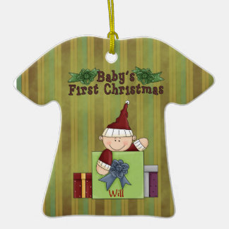 Christmas Collection Baby 1st Xmas T-Shirt Ceramic T-Shirt Decoration