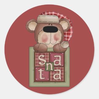 Christmas Collection Bear Santa Stickers