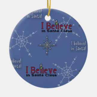 Christmas Collection Believe in Santa Round Ceramic Decoration