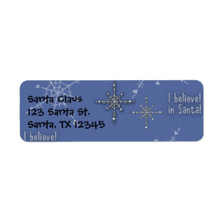 Christmas Collection Believe Santa Return Address Label
