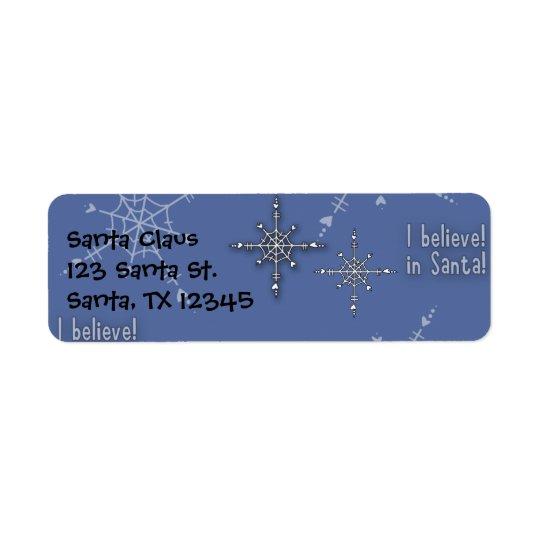Christmas Collection Believe Santa Return Address Label