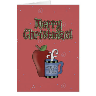 Christmas Collection Best Teacher Greeting Card
