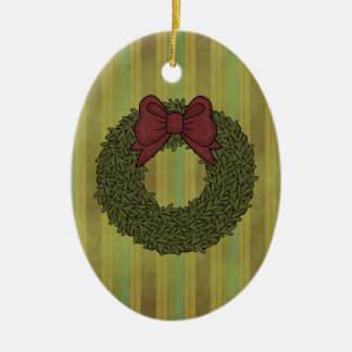 Christmas Collection Bow Wreath Ornament