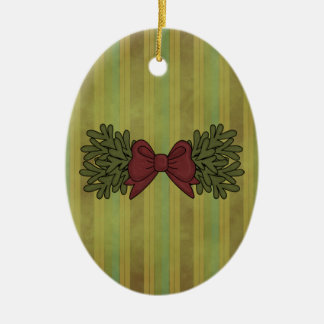 Christmas Collection Garland Bow Ornament