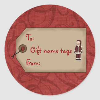 Christmas Collection Gift Name Tags Santa Stickers
