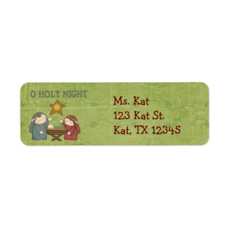 Christmas Collection O Holly Night Return Address  Return Address Label