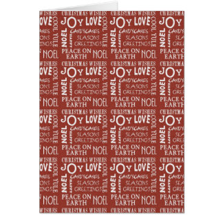 Christmas Collection Peace Joy Greeting Card