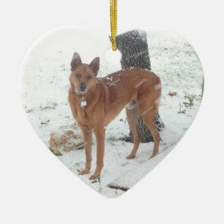 Christmas Collection Pet or Family Photo Ceramic Heart Decoration